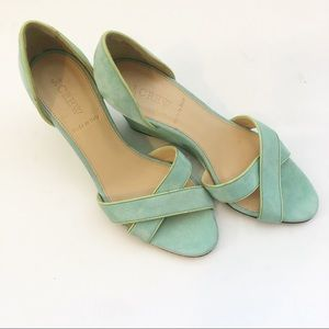 J Crew made in Italy sea foam green slingbacks 7